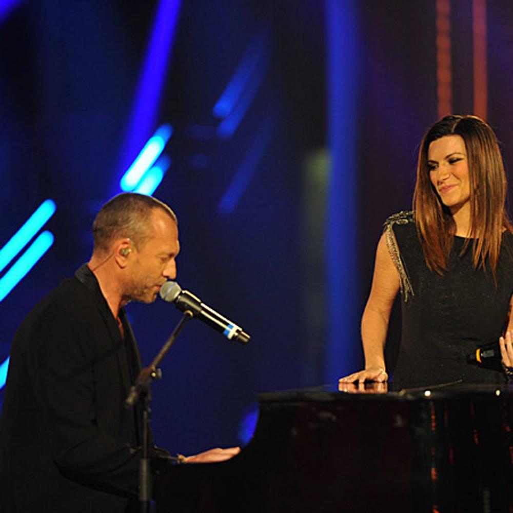 Biagio Antonacci ospite speciale di Laura Pausini a Roma