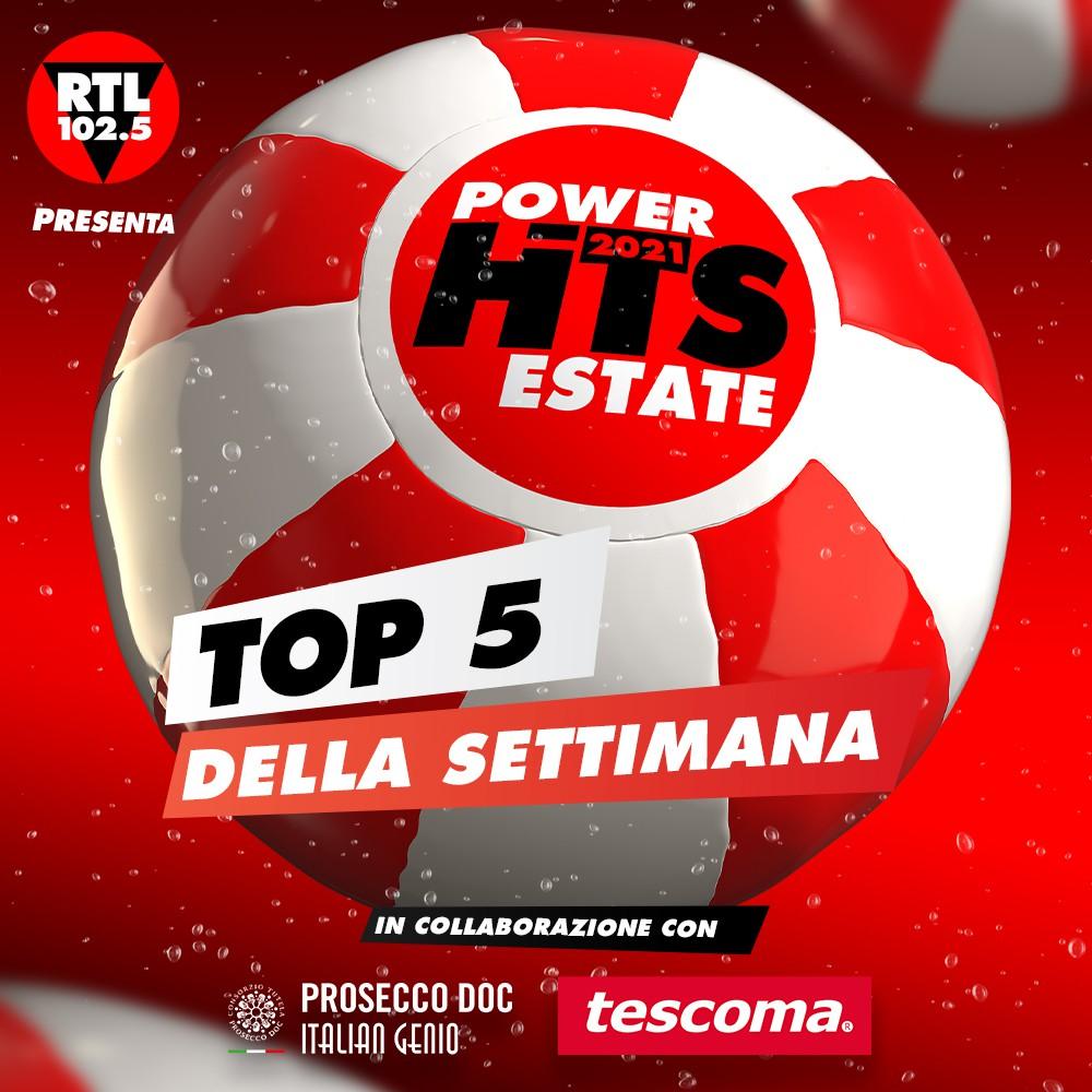 """""""RTL 102.5 Power Hits Estate 2021"""": Marco Mengoni sempre in testa anche nella classifica della decima e ultima settimana"""