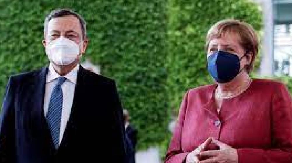 Angela Merkel a  Roma, incontrerà Mario Draghi,  un congedo con il sapore del passaggio di testimone