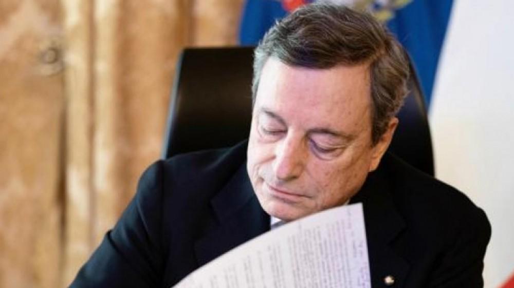 """Covid, Draghi: """"Risposta coordinata alle pandemie, sinergie sui dati e sospensione dei brevetti sui vaccini"""""""