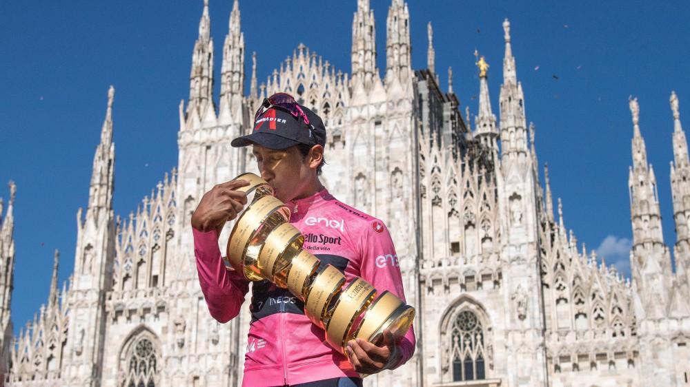 Egan Bernal vince il 104esimo giro d'Italia; super Caruso, secondo nella classifica generale; la crono finale a Ganna