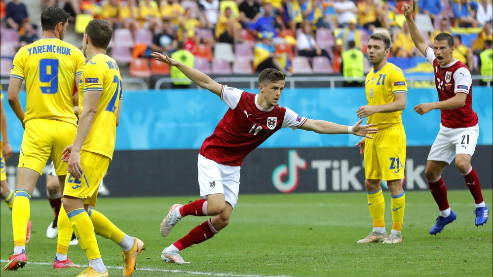 Euro 2020, Ucraina-Austria 0-1, Macedonia del Nord-Olanda 0-3,  Finlandia-Belgio 0-2, Russia-Danimarca 1-4