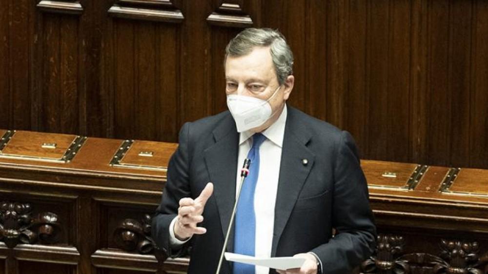 """Governo, il premier Mario Draghi  alle Camere si ispira a Cavour: """"Italia laica, il Parlamento è libero"""""""
