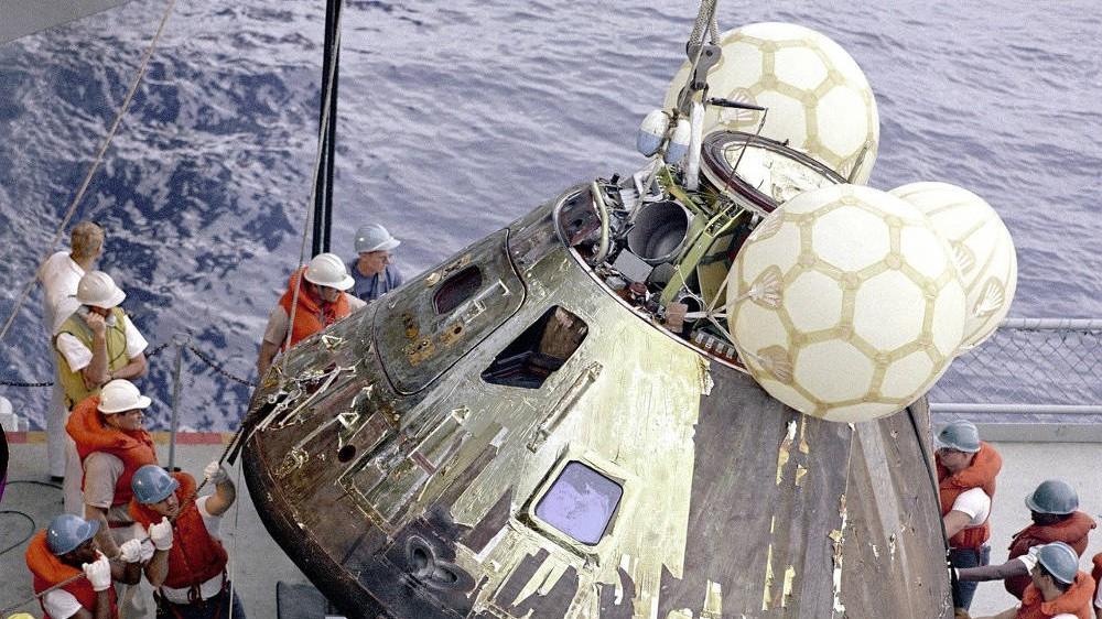 Il 17 Aprile 1970 l'Apollo 13 ammarò nell'Oceano Pacifico, 4 giorni dopo il celebre incidente