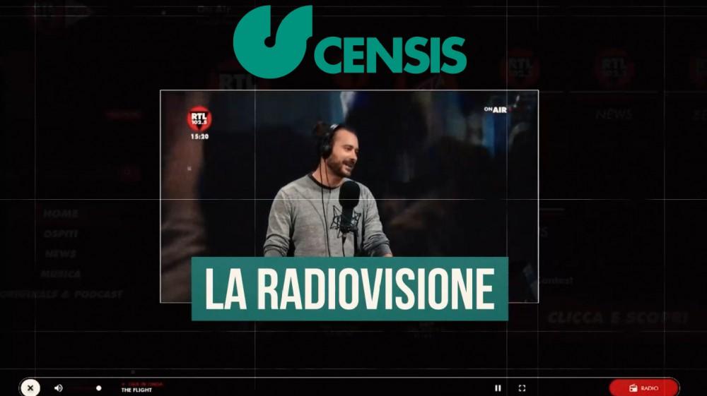 La radiovisione è il new media che conquista il pubblico e il censis certifica che è diventata un fenomeno di massa