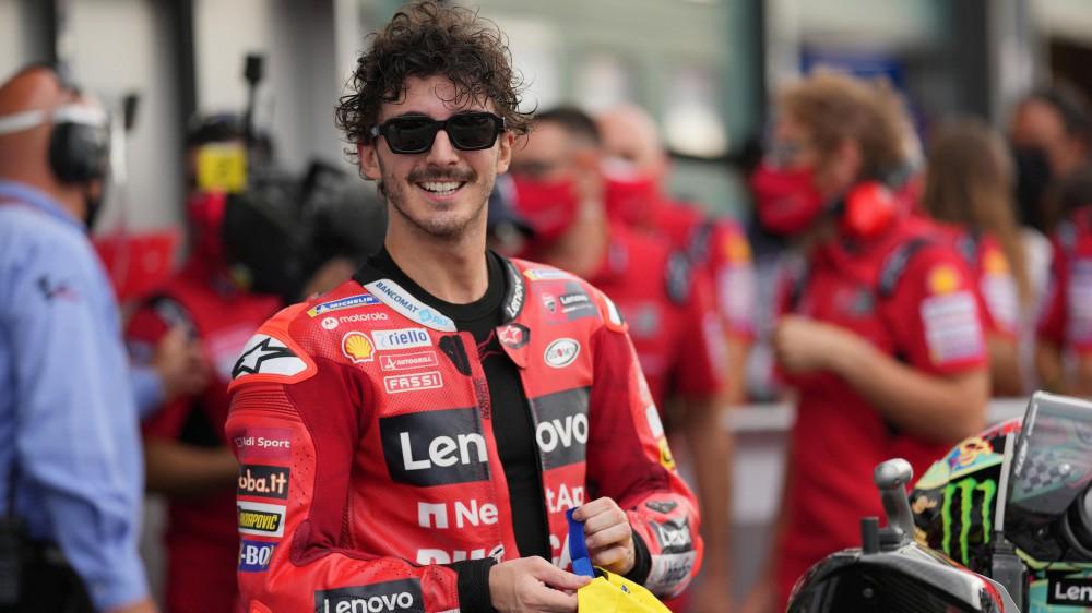 MotoGp, Bagnaia da sogno, trionfa a Misano. Primo podio per Bastianini
