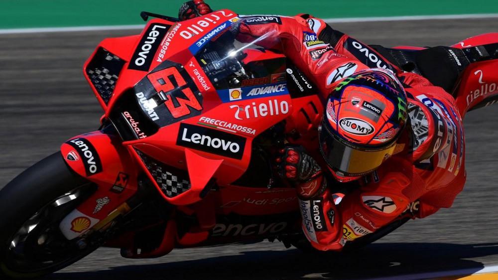 MotoGP: GP Aragon, spettacolo Bagnaia, primo successo in top class