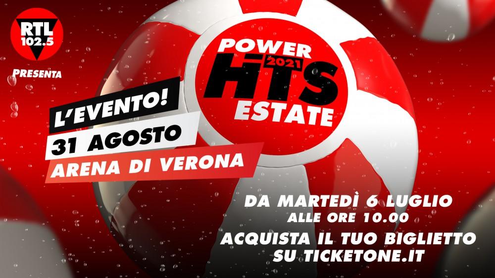RTL 102.5 Power Hits Estate 2021: domani dalle 10.00 si potranno acquistare i biglietti su ticketone.it