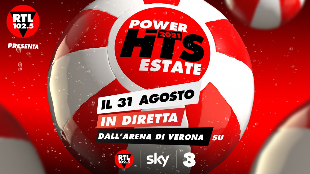 RTL 102.5 POWER HITS ESTATE 2021: un cast di artisti italiani ed internazionali per una serata unica che decreterà il tormentone dell'estate 2021