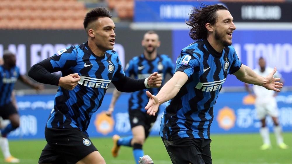 Serie A, con un gol di Darmian l'Inter batte il Cagliari, conquista l'undicesima vittoria consecutiva e sale  a +11 sul Milan