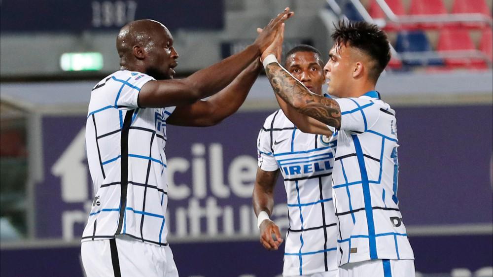 Serie A, l'Inter vince a Bologna ed allunga sul Milan, pareggio con la Sampdoria, e sulla Juventus, che pareggia il derby con il Torino