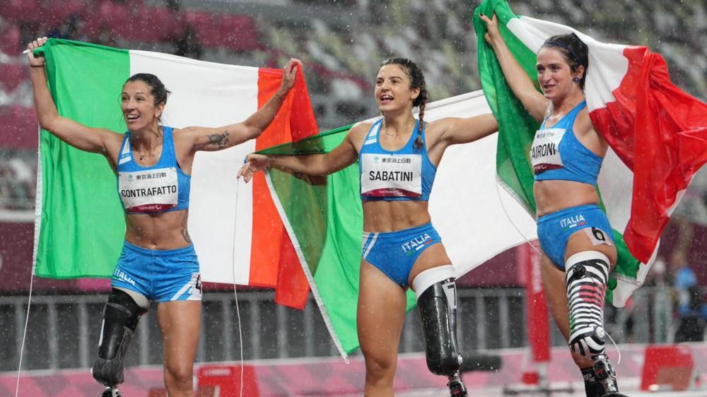 Storico successo nei 100 metri donne alla Paralimpiadi, il podio tutto italiano
