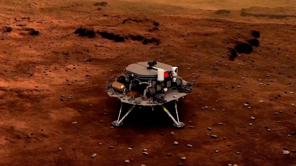 Successo per la corsa spaziale della Cina, la sonda Tianwen-1 ha toccato la superficie di Marte
