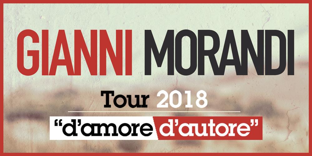 Gianni Morandi Tour 2018 D'Amore D'Autore